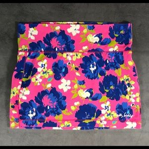 Gilly Hicks Bright pink and blue short skirt Large